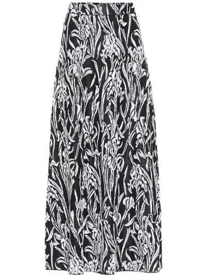 Czarny spódnica midi z wiskozy Givenchy