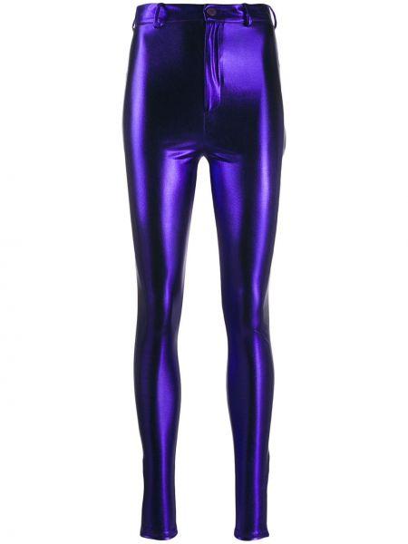 Fioletowe spodnie z paskiem Attico