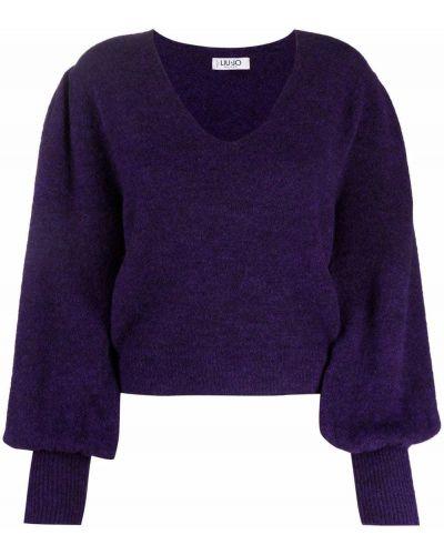 Фиолетовый шерстяной джемпер Liu Jo