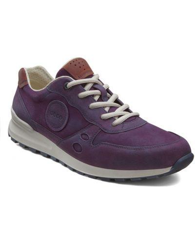 Кожаные кроссовки фиолетовый Ecco