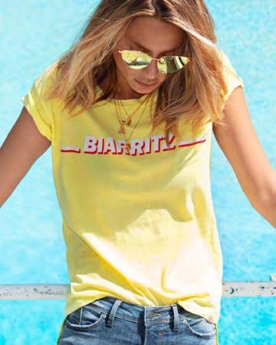 Хлопковая желтая футболка Blend