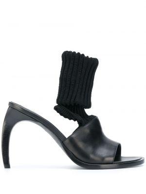 Черные открытые носки с открытым носком Ann Demeulemeester