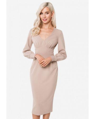 Платье осеннее бежевое Solou