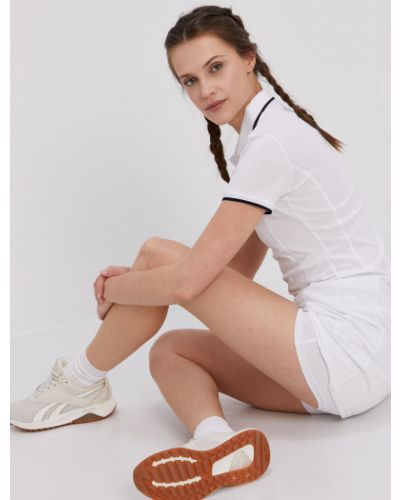 Biała sukienka mini dzianinowa krótki rękaw 4f