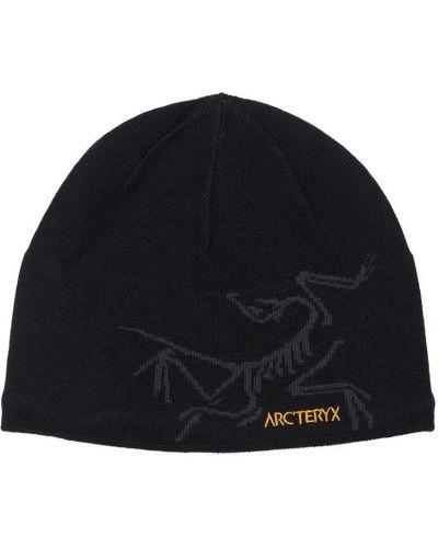 Шерстяная шапка бини - черная Arcteryx