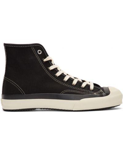 Ażurowy czarny wysoki sneakersy zasznurować okrągły Ys