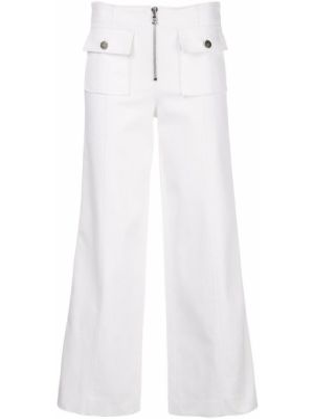 Białe jeansy bawełniane rozkloszowane Cinq A Sept