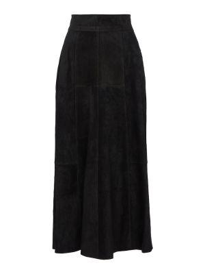 Czarna spódnica zamszowa Isabel Marant