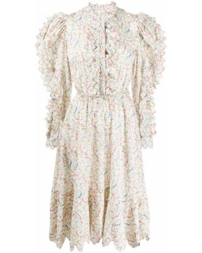 Платье миди макси с цветочным принтом Horror Vacui