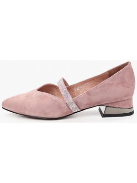 Розовые замшевые туфли закрытые Berkonty