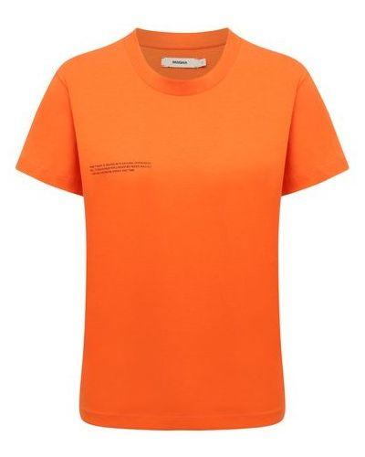 Хлопковая футболка - оранжевая Pangaia