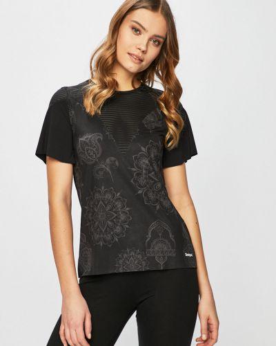 Спортивная футболка черная прозрачная Desigual Sport