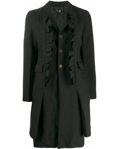 Черное длинное пальто Comme Des Garçons Comme Des Garçons