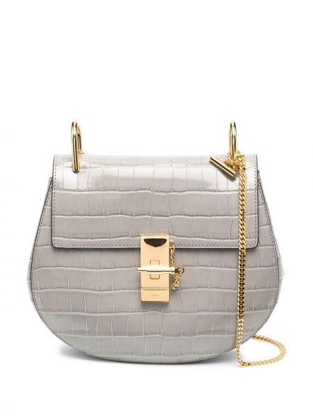 Skórzany torebka na łańcuszku z kieszeniami złoto Chloe