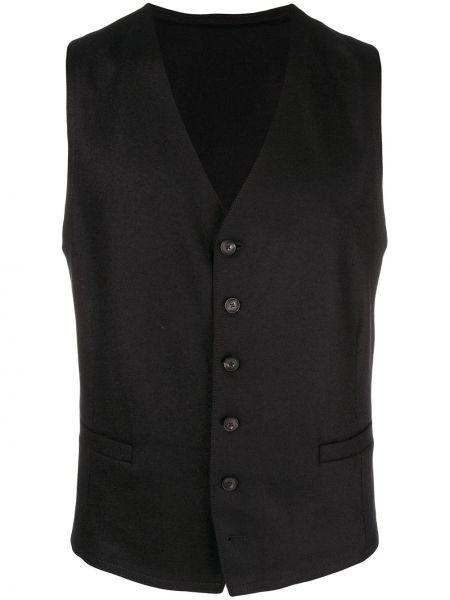 Классический пиджак шерстяной черный Emporio Armani
