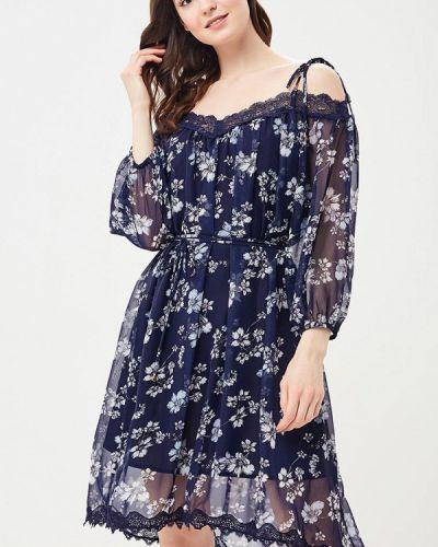Синее платье прямое Lusio