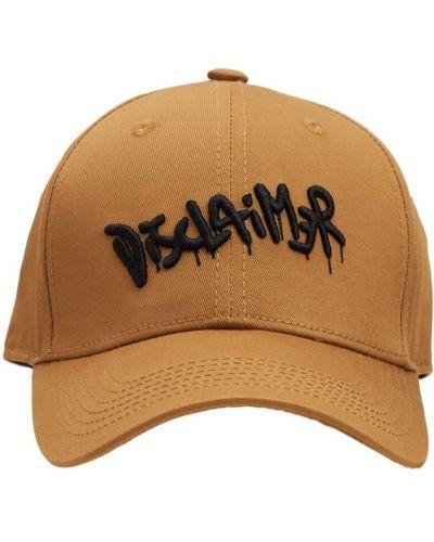 Brązowa czapka bawełniana Disclaimer