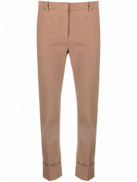 Brązowe spodnie z paskiem Antonelli