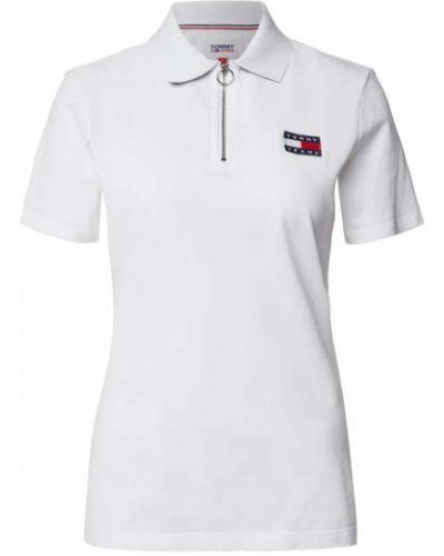 Biały t-shirt bawełniany Tommy Jeans