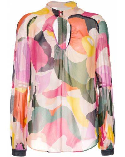 Блузка с длинным рукавом в полоску батник Ginger & Smart