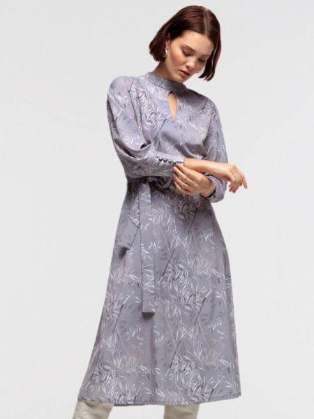Платье серое прямое Lova