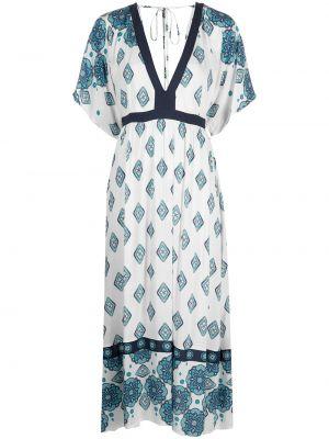 С рукавами белое платье мини с вырезом Mc2 Saint Barth