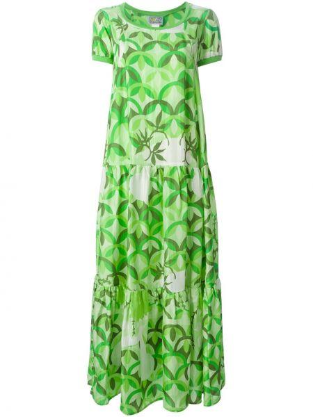 Шелковое расклешенное платье мини винтажное с вырезом Walter Van Beirendonck Pre-owned