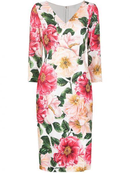 Шелковое платье - розовое Dolce & Gabbana