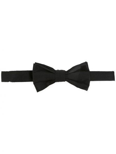 Czarny krawat z jedwabiu Fefe