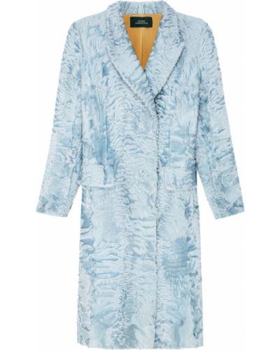 Пальто из каракуля - голубое Alena Akhmadullina