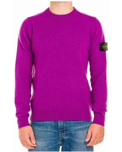 Sweter wełniany - fioletowy Stone Island