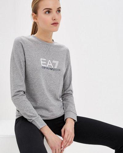 Серый свитшот Ea7
