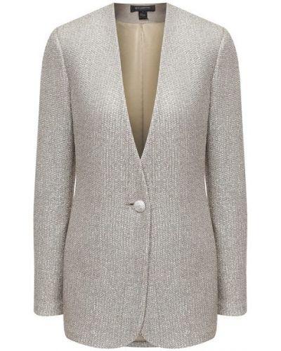 Трикотажный пиджак с подкладкой золотой St. John
