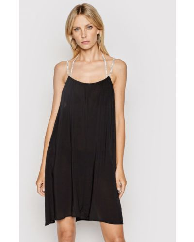 Sukienka plażowa - czarna Calvin Klein Swimwear
