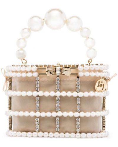 Beżowa kopertówka perły Rosantica