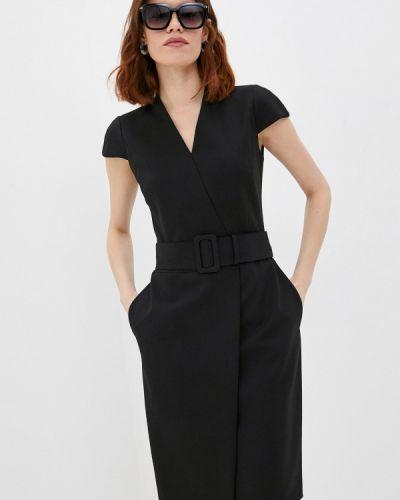 Черное платье-футляр Hugo