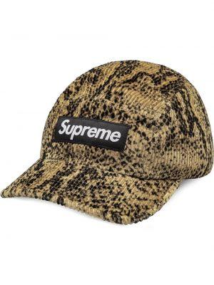 Bawełna z paskiem bawełna czarny czapka z daszkiem Supreme
