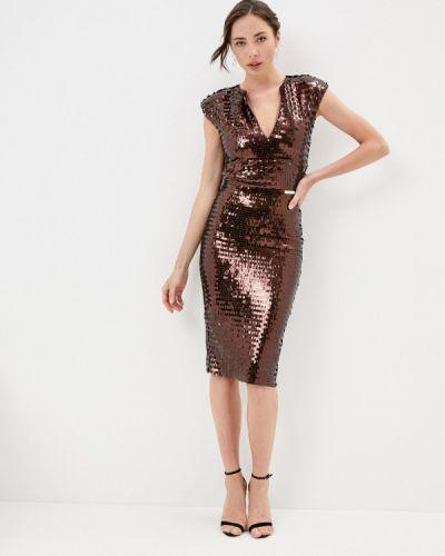 Коричневое вечернее платье Rich & Naked