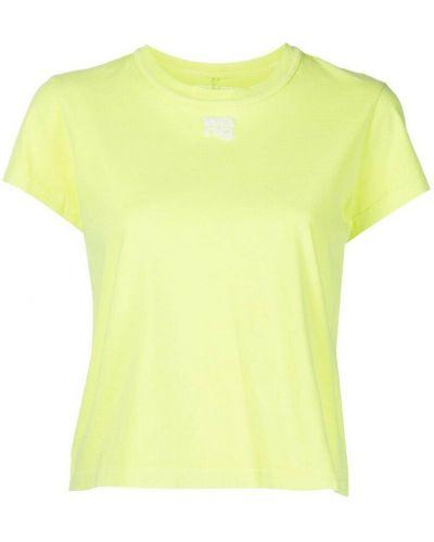 Żółta t-shirt Alexander Wang