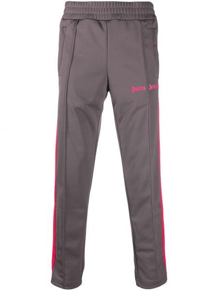 Spodni spodnie w paski z boku z paskami z mankietami Palm Angels