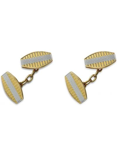 Żółte złote spinki do mankietów vintage Pragnell Vintage