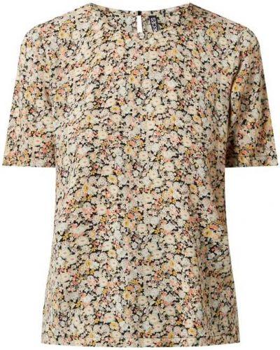 Czarna bluzka krótki rękaw z wiskozy Pieces