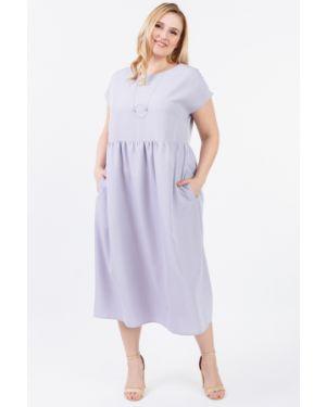 Платье мини серое через плечо Lacywear