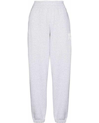 Серые хлопковые брюки Alexander Wang