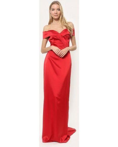 Вечернее платье красный осеннее Tutto Bene