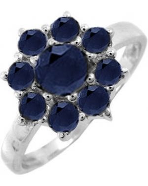 Кольцо из серебра c сапфиром Evora