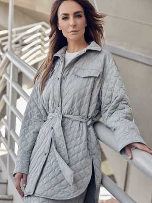 Серое пальто на подкладке Zarina