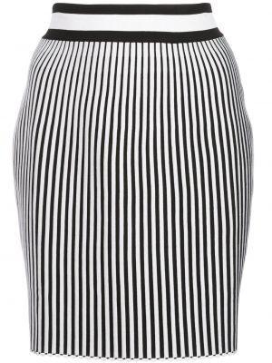 Черная ажурная с завышенной талией юбка мини из вискозы Off-white