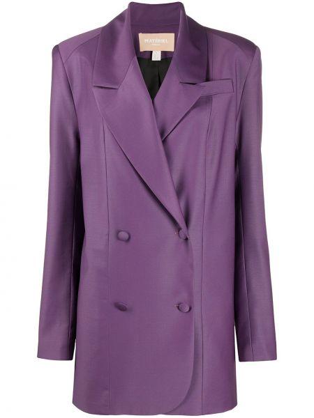 Шерстяной пиджак двубортный с карманами Matériel