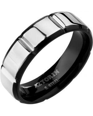 Кольцо серебряный черный Aztorin